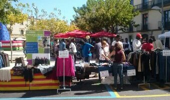 Parada d'Humana al mercat de Santa Tecla.