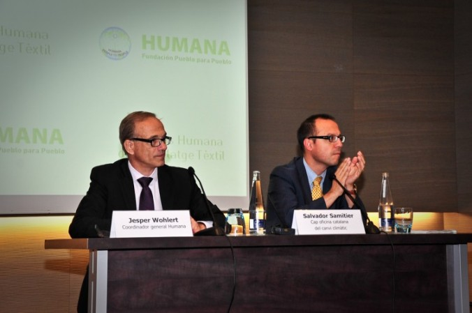 Jesper Wohlert i Salvador Samitier, durant l'Humana Day celebrat a Barcelona.
