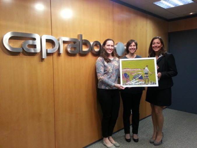 D'esquerra a dreta, Mariana Franzon,  Unit Manager d'Humana, i Cristina Madrilley i Ana González, del Departament de Responsabilitat Social Corporativa i Medi Ambient de Caprabo.