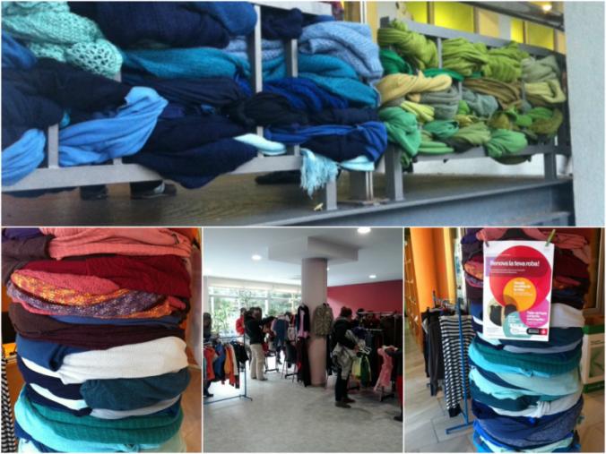 Al centre cívic de Sant Martí han utilitzat roba cedida per Humana.