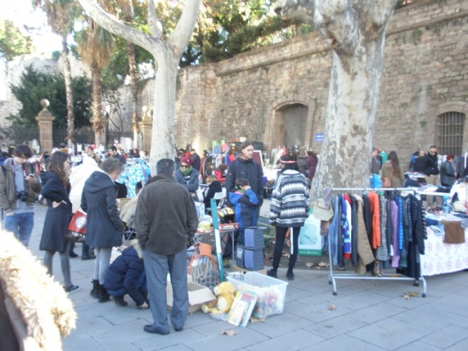 El Flea Market Barcelona es va fer al costat de les Drassanes.