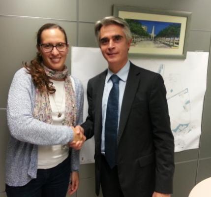 Mariana Franzon, Unit Manager Recollida, i Ramon Maria Pascual Poy, regidor de Salut Pública i Qualitat Mediambiental.