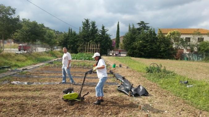 Ismael i Maria són dos dels vuit activites que treballen a l'hort.