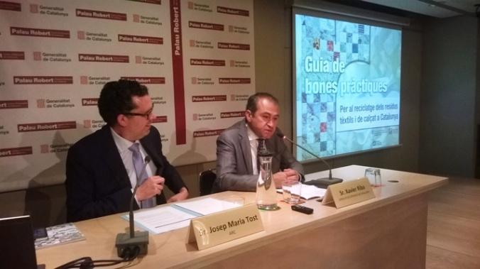 Josep Maria Tost, de l'ARC, i Xavier Riba, del Gremi de Recuperació de Catalunya.